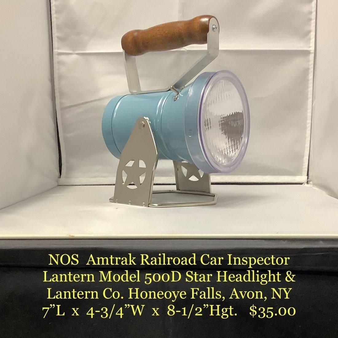NOS Amtrak Railroad Car Inspector Lantern Model 500D    $35.00