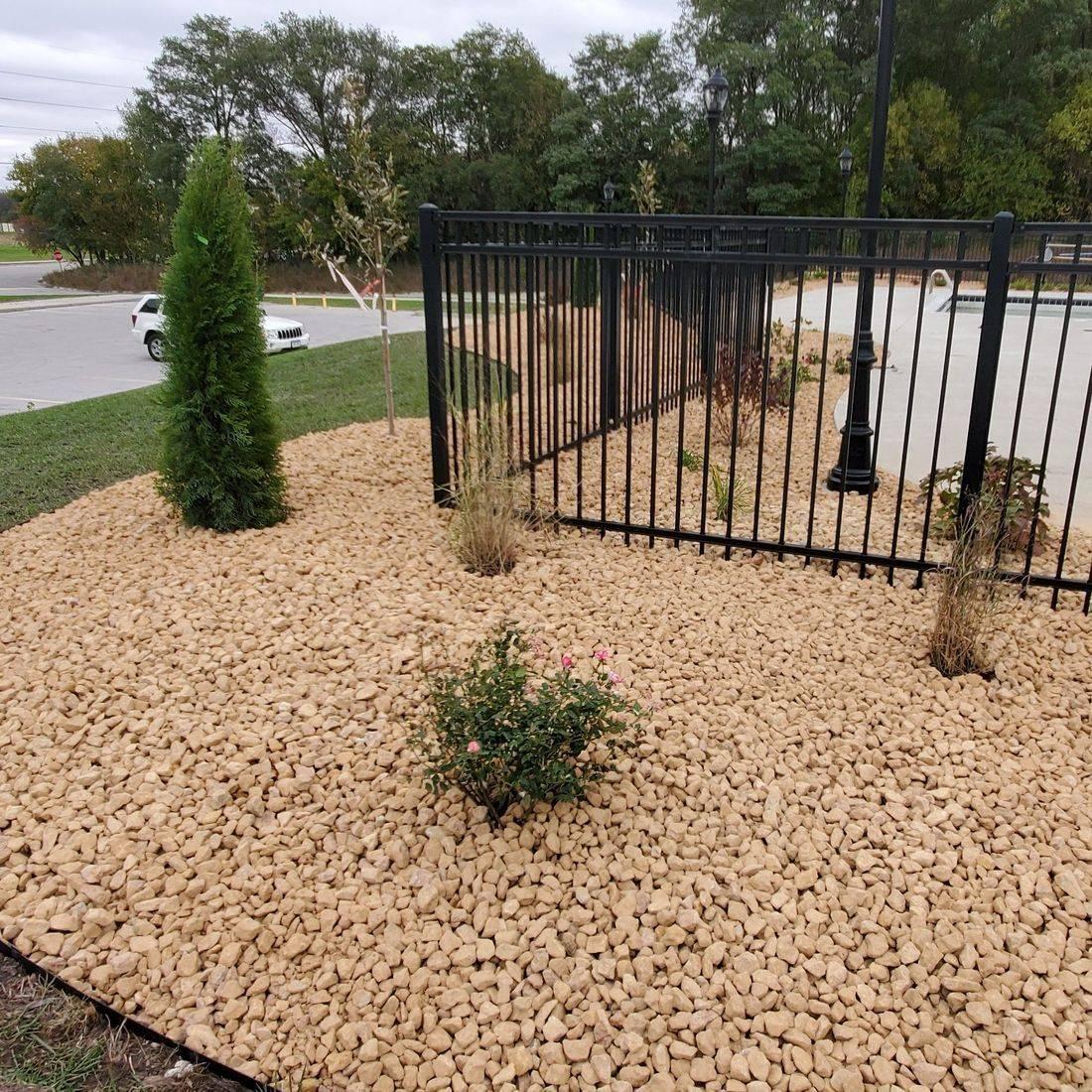 Iowa, landscape, stone patio, lawn care