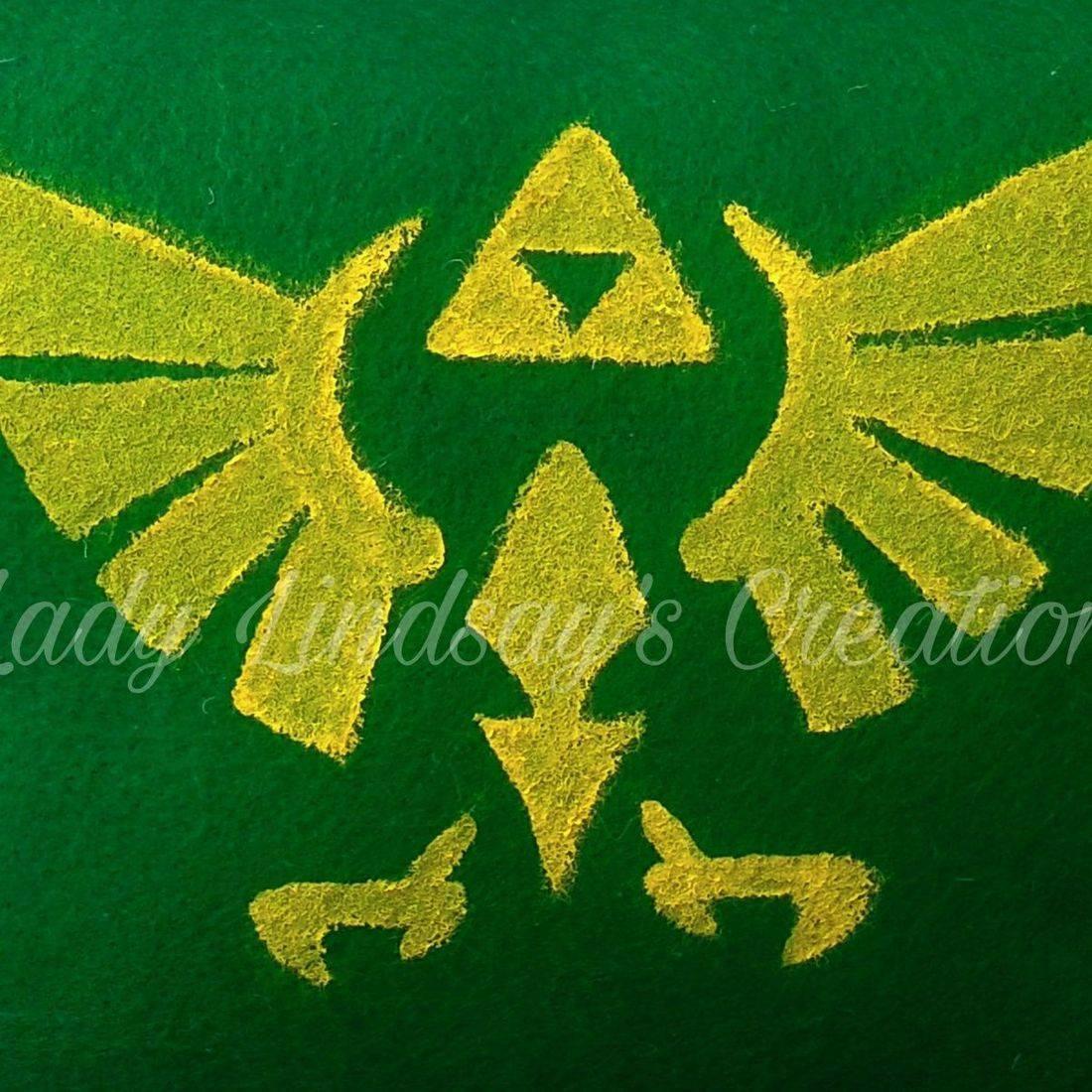 Legend of Zelda, Hyrule, Crest, painted, pillow, handmade, handcrafted, shop small, small business, Link, Nintendo, video game, Classic, Nerd, geek, otaku, anime