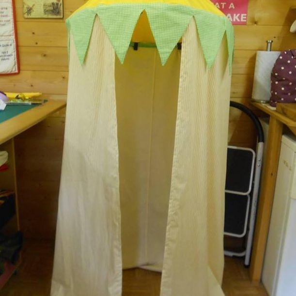 Playroom reading tent