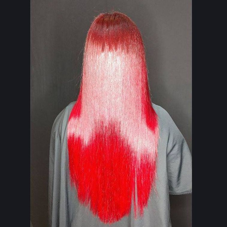 red hair  long hair blowout curls