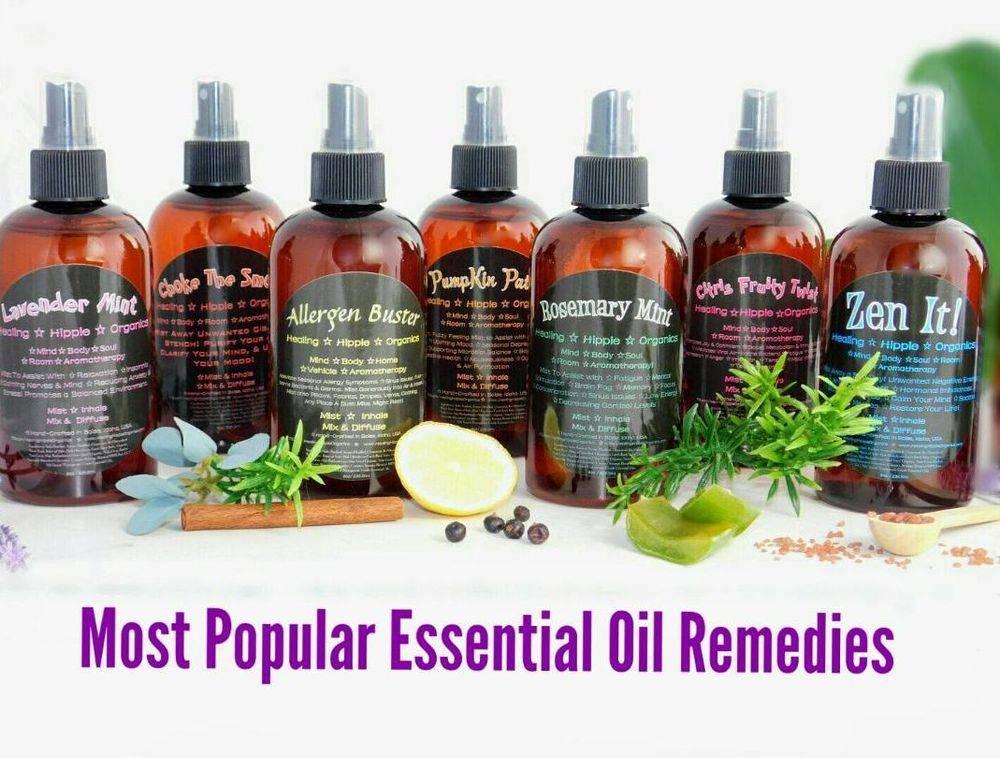 Most popular Essential Oils Remedies, Healing Hippie Organics, Boise, Idaho, USA