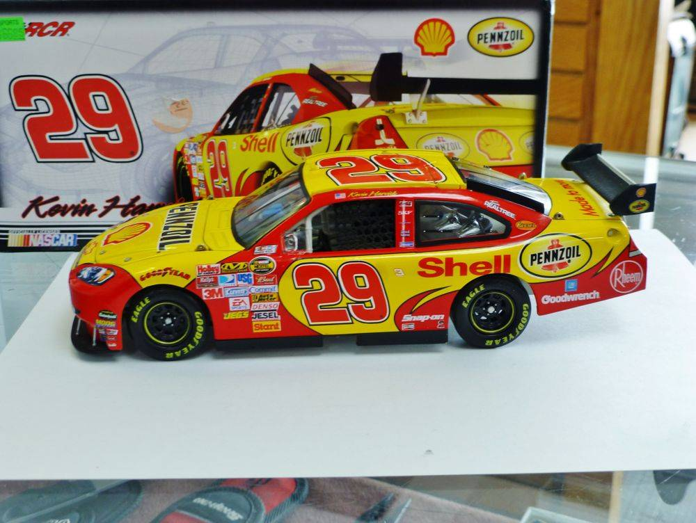 Red and Yellow Kevin Harvick Diecast Car