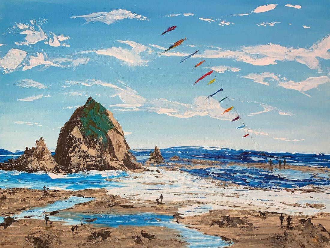 Memories, Haystack Rock, Kites, Oregon Coast. Summer, Secrets, Pacific Northwest