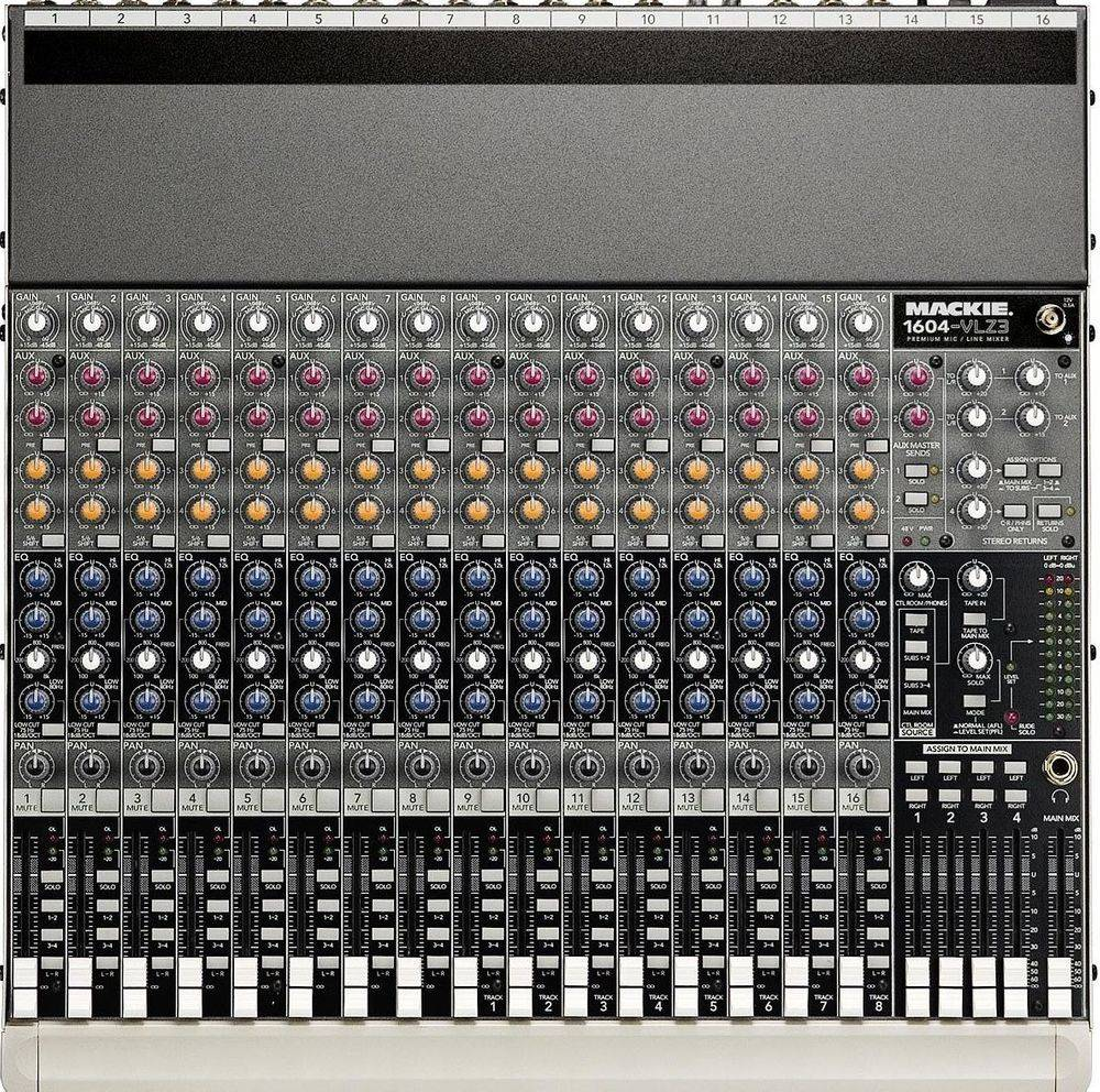 Rent-Mackie 1604VLZ !^ Channel Stage Mixer