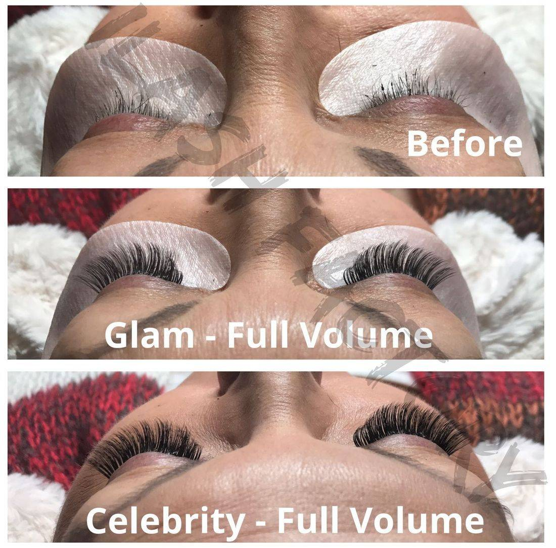 before and after cosmetic eyelashes