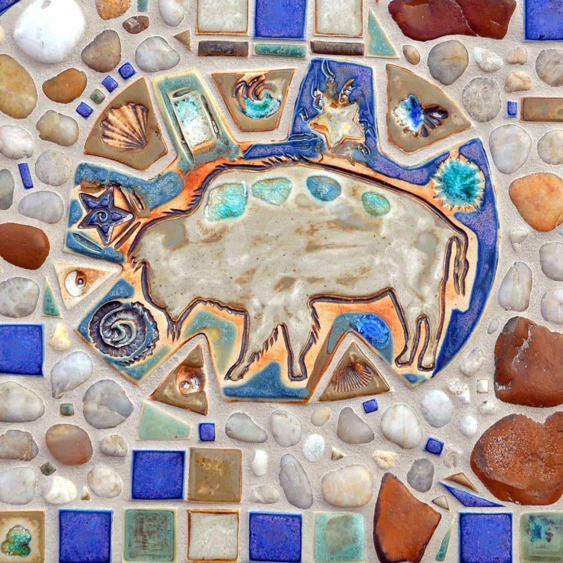 Mosaic Table Top Art, Alberta