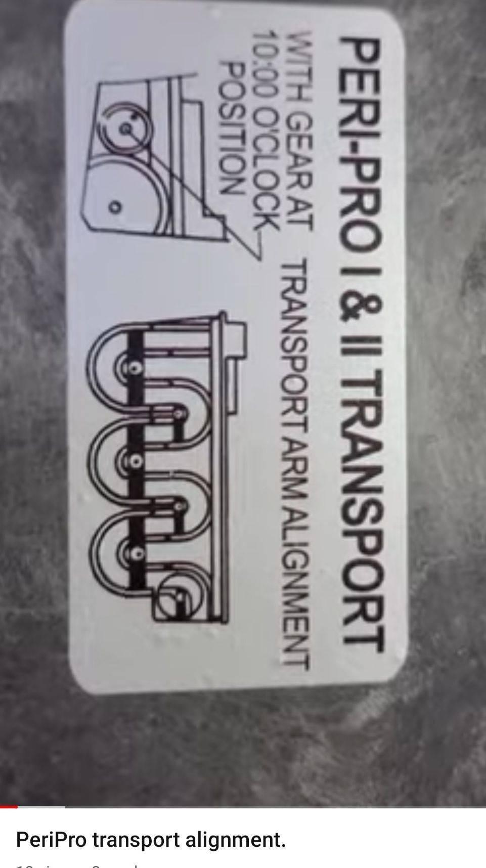 Peri Pro 1 & 2 Transport Alignment sticker