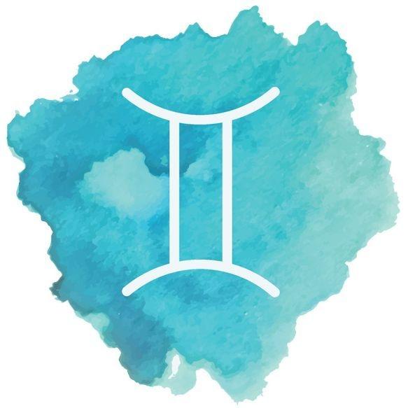 Image: watercolor Gemini sign