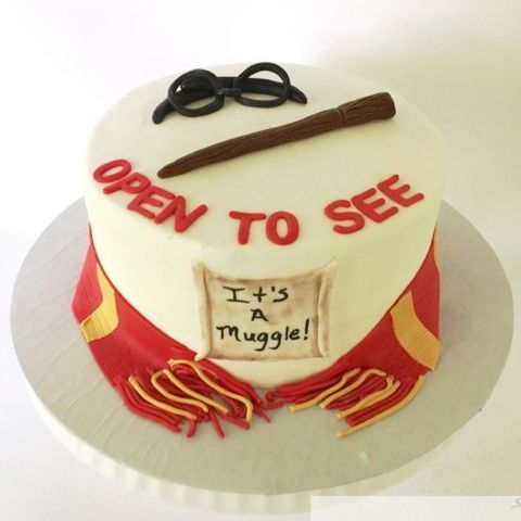 Harry Potter Gender Reveal Baby Shower Cake
