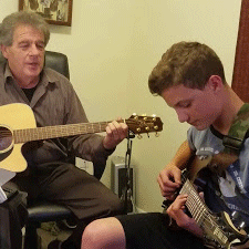 Brandon M, Johnny B. Goode, Chuck Berry, guitar lessons, Ray Braselton