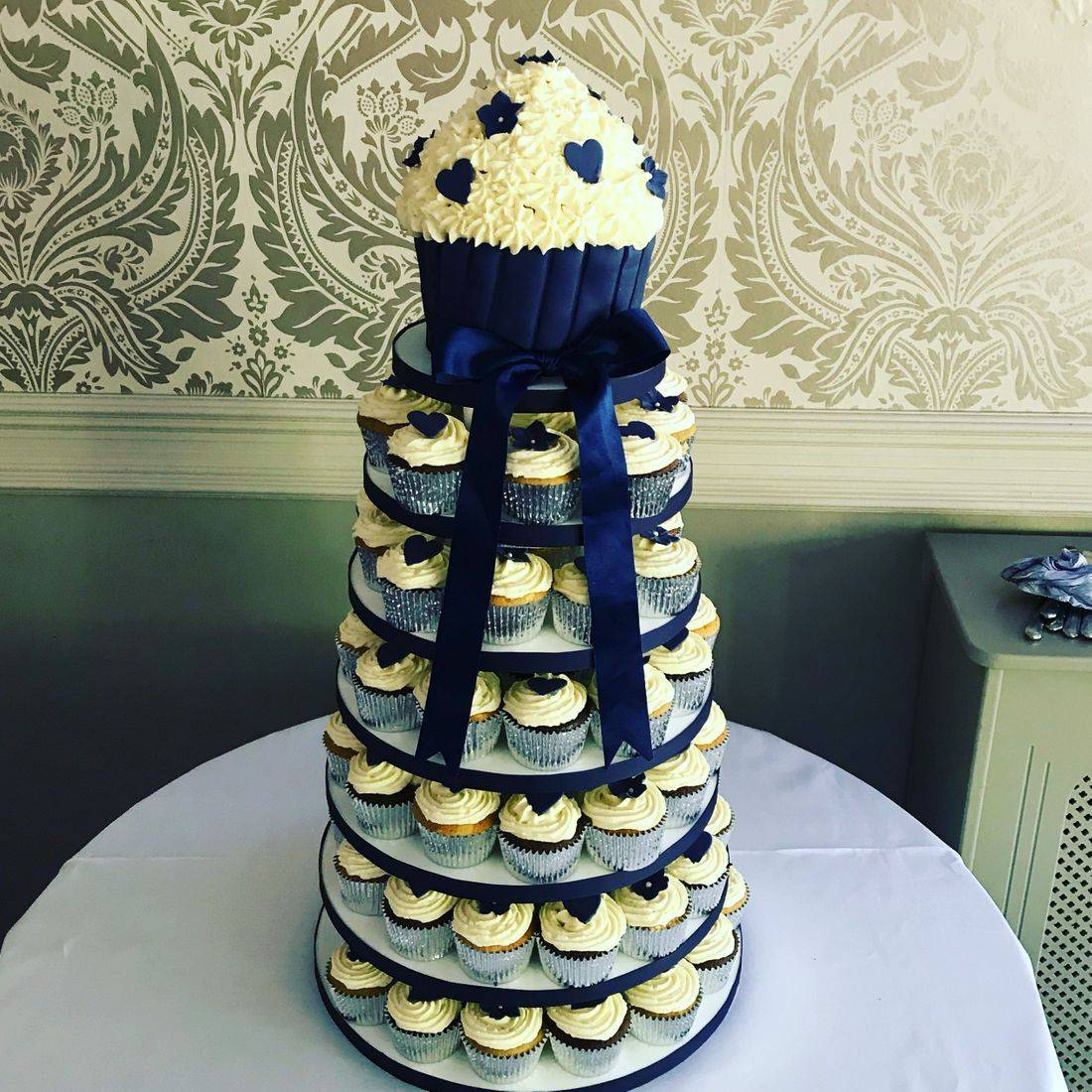 Giant Cupcake Tower Wedding Cake Fabu-Lous Cakes