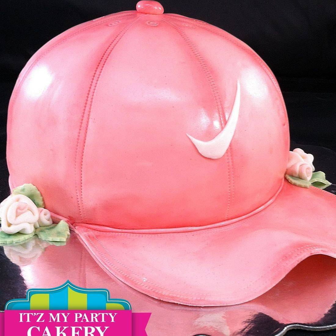 Pink Nike Hat Cake Carved Dimensional Cake Milwaukee