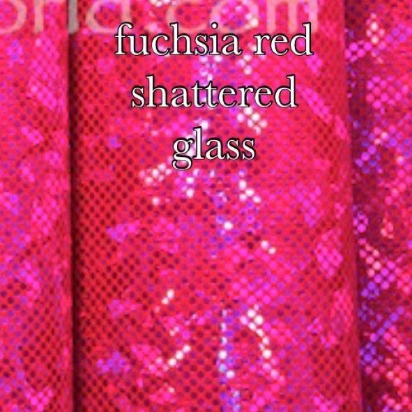 fuchsia red shatter glass