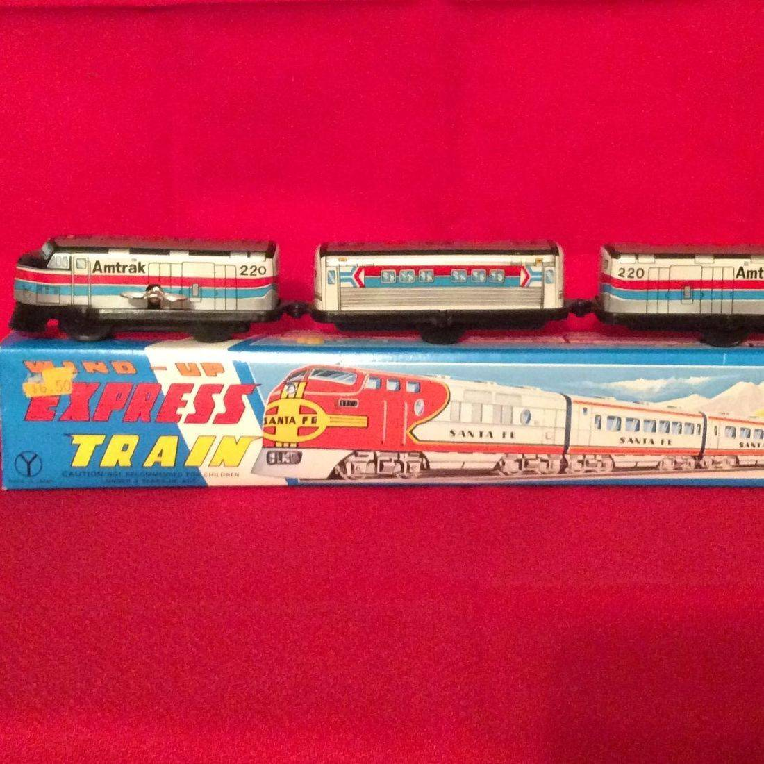 1960's Wind-up Am Trak Express Train w/Box   $25.00