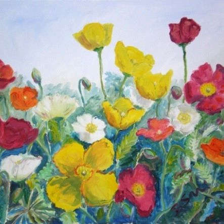 iceland poppies painting