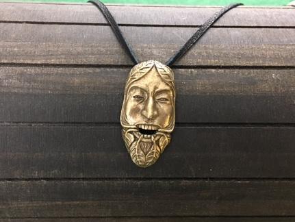 Celtic Green Man Pendant, Celtic, Irish, Iron Age Shield Ravens