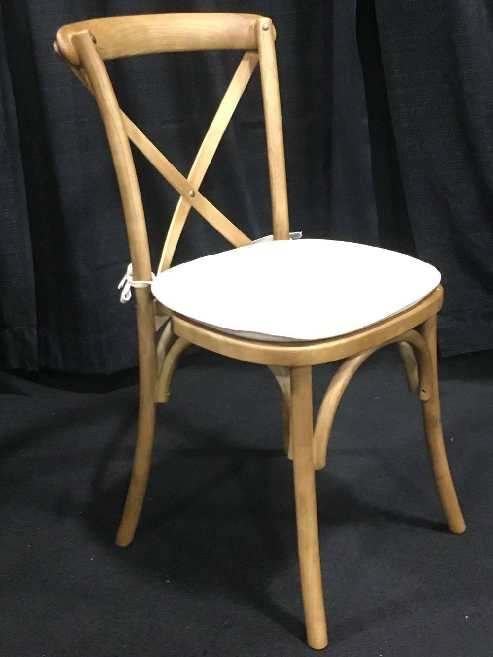 Cross Back Wood Chair Rental www.rentals801.com