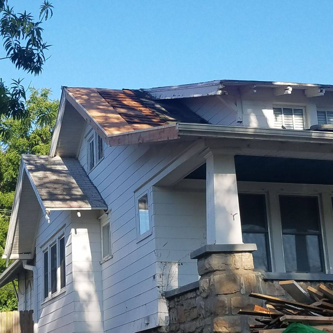JOCO PVKS ROOF DAMAGE roofing framing