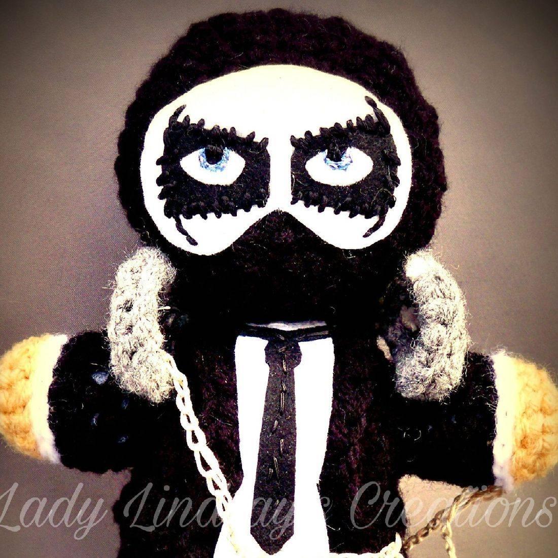 Moth Rider, Commission, Custom, Crochet, Amigurumi, Plush, Doll, Handmade, handcrafted, craft, artisan, art, paint, Shop Small, Villain