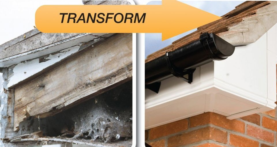 rotten fascia boards replace with upvc fascia