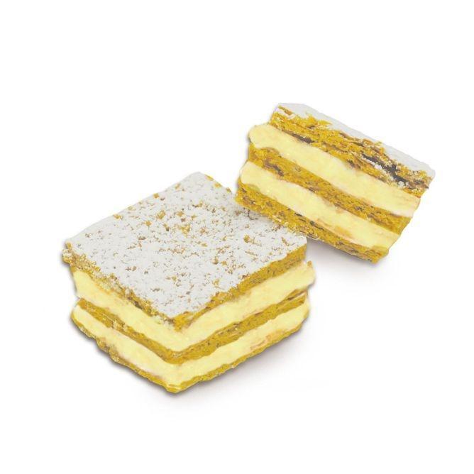 Millefoglie Mignon Limone Mini Blätterteig geschichtet mit Zitronencreme