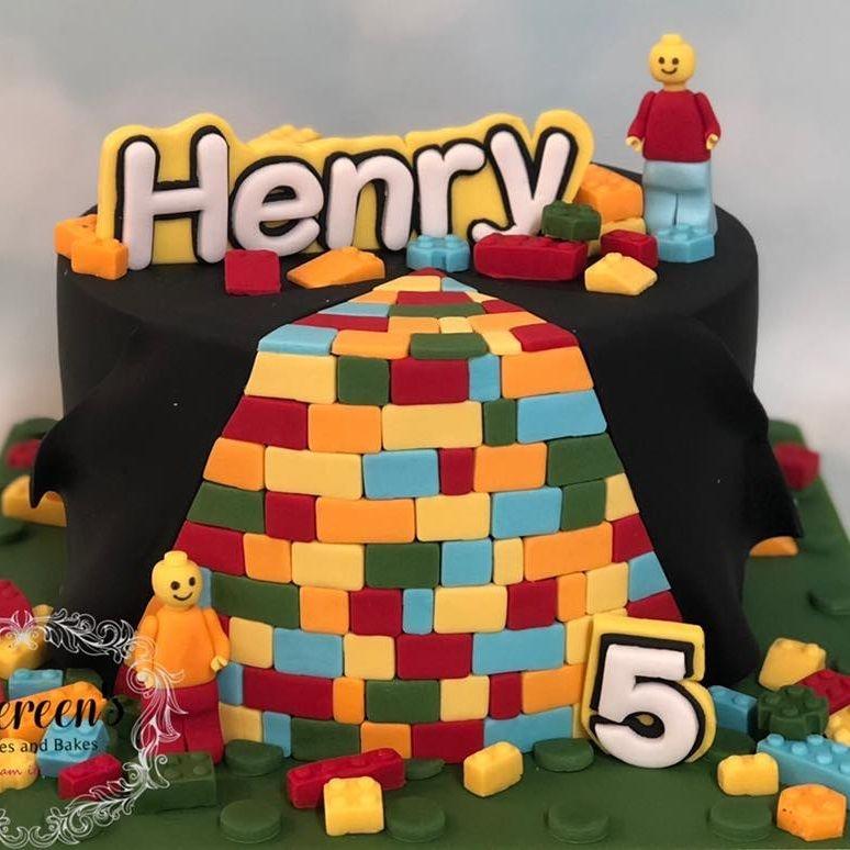 Birthday Cake Lego Building Block Bright