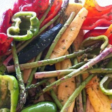 These are Arista's grilled mixed vegetables