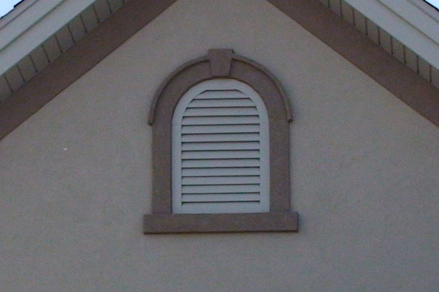 Gable Vent With Stucco Trim Kit