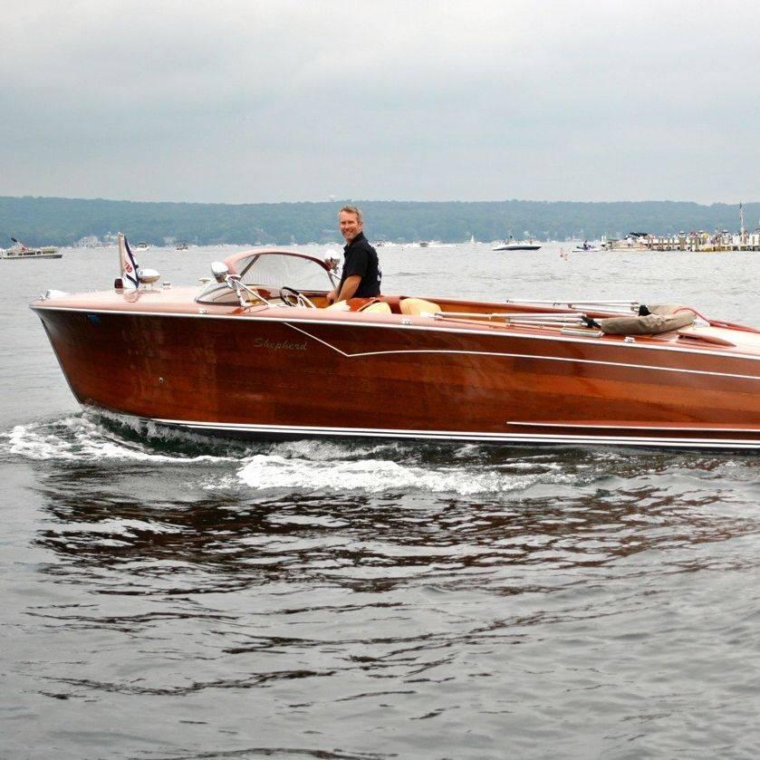 wood boat restoration on Lake Geneva