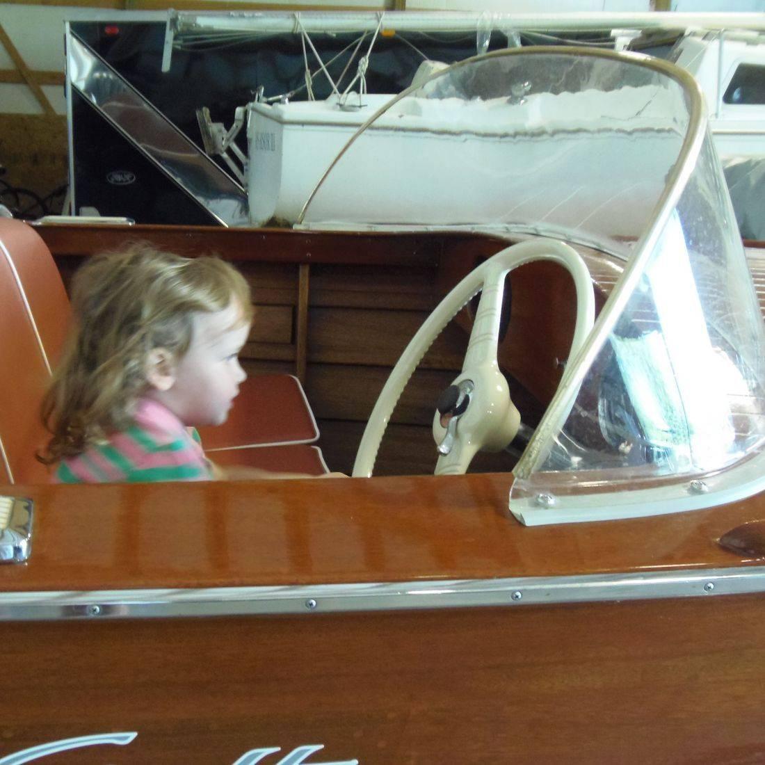 Antique wood boat restored by Bergersen Boat