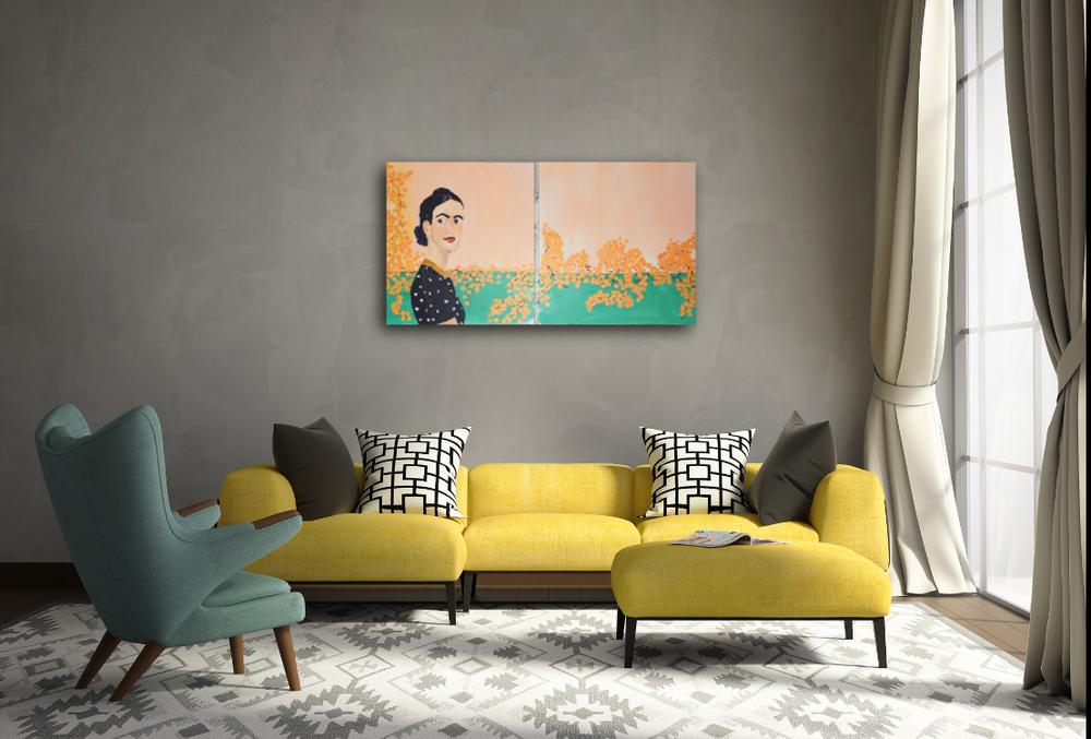 How to collect art Birdgirl Sasha French Frida Khalo Bougainvillea