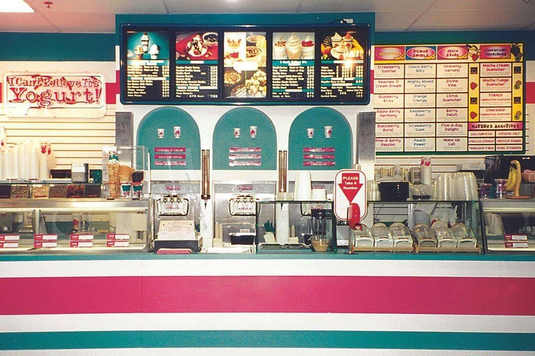 I Can't Believe It's Yogurt in Coral Springs ice cream dispensers & menu boards