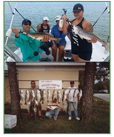 San Antonio fishing,  Striped Bass and Redfish fishing