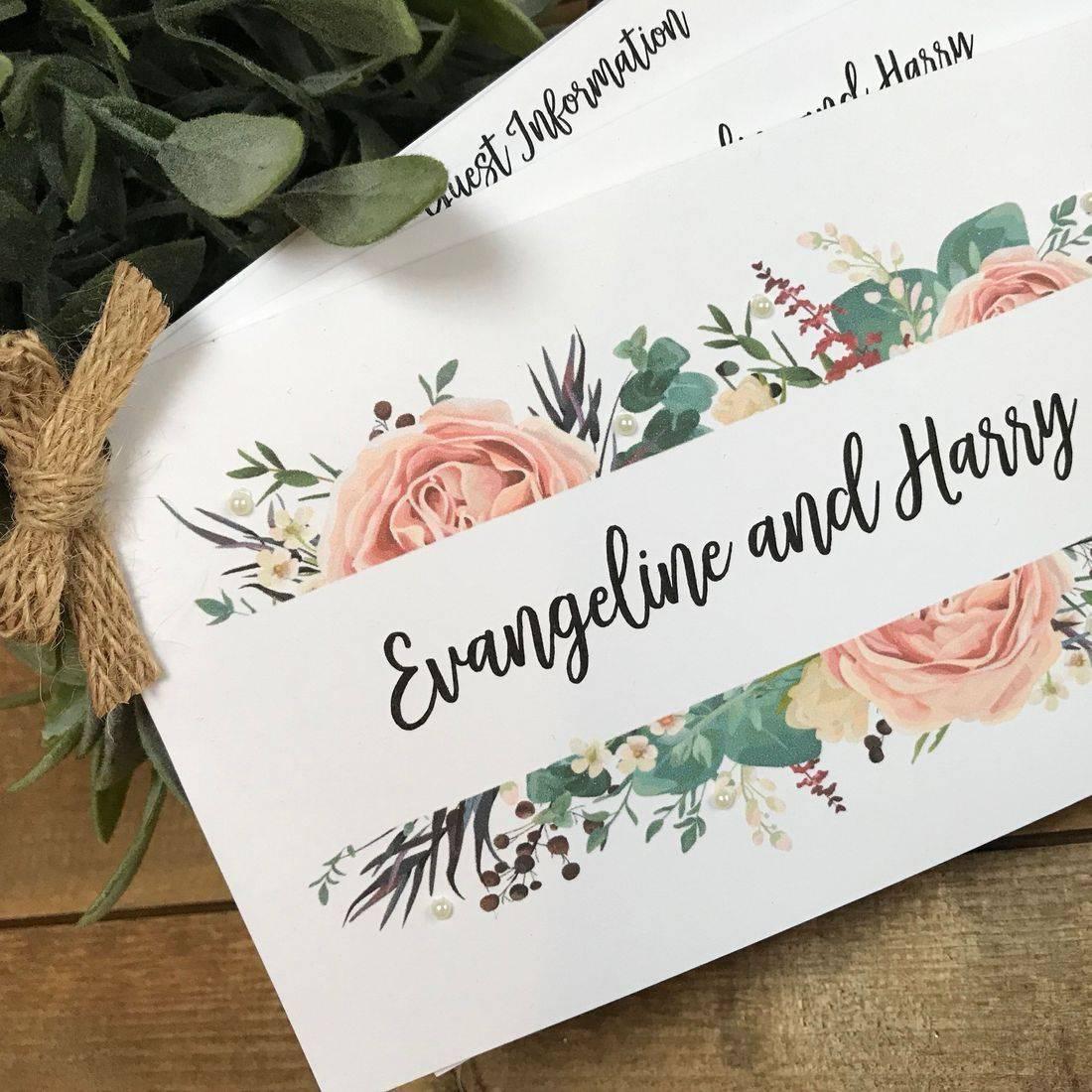 Rustic Burlap Tied Wedding Invitation