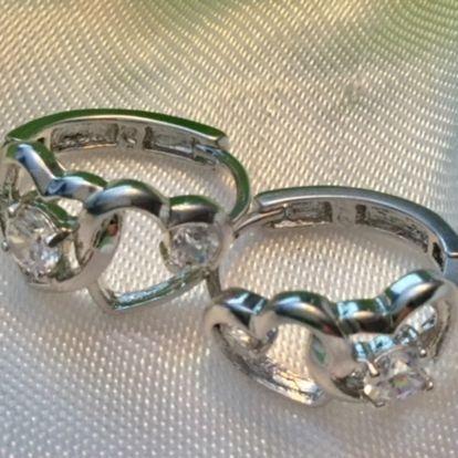 Heart Earrings, womens, girls, jewelry, lever-back, silver