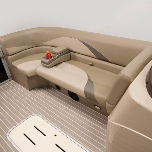 Luxury seating aboard our spacious pontoon boat.