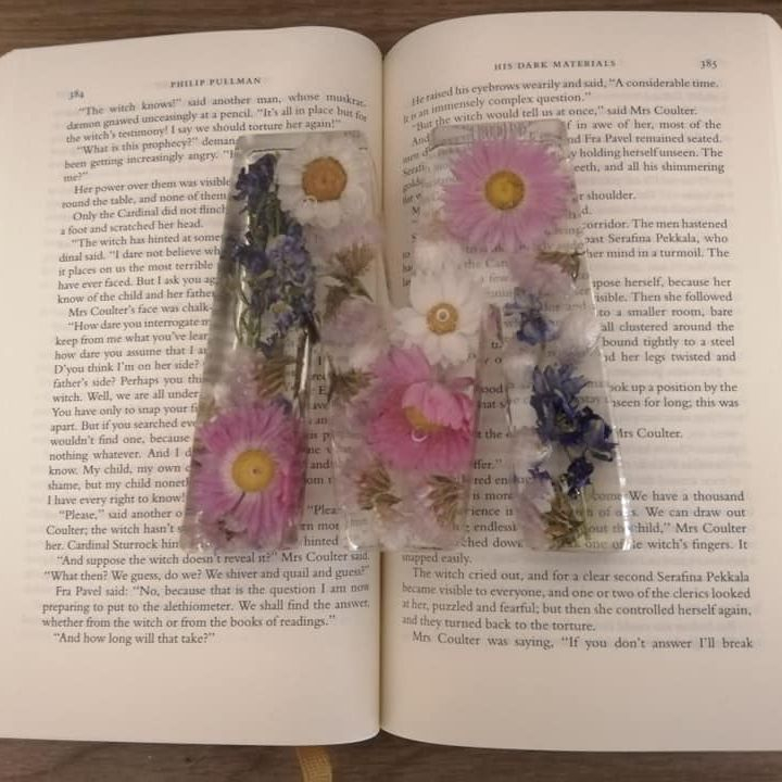 Resin Flower Letter