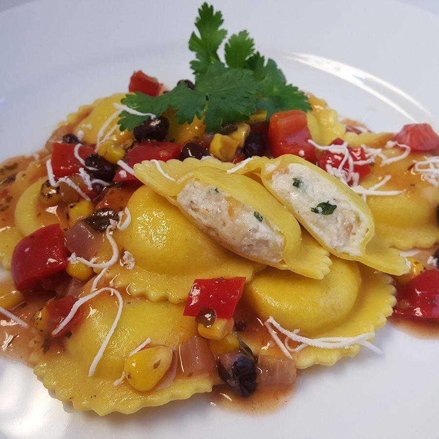 ravioli pasta italian lunch catering seattle mozzarella