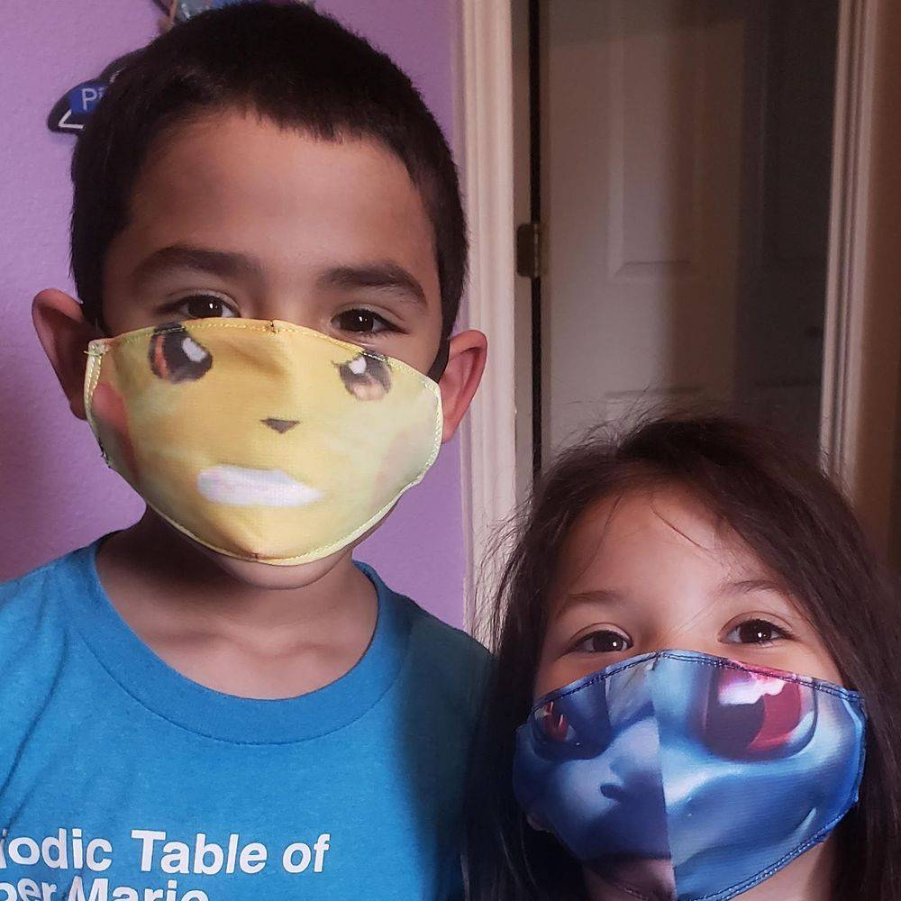 Sublimation on Kids Face Mask