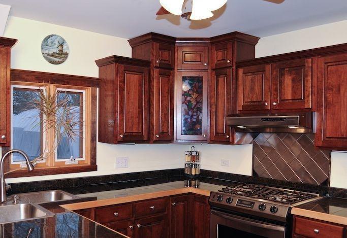Kitchen Remodel - Custom Built Cherry Cabinets