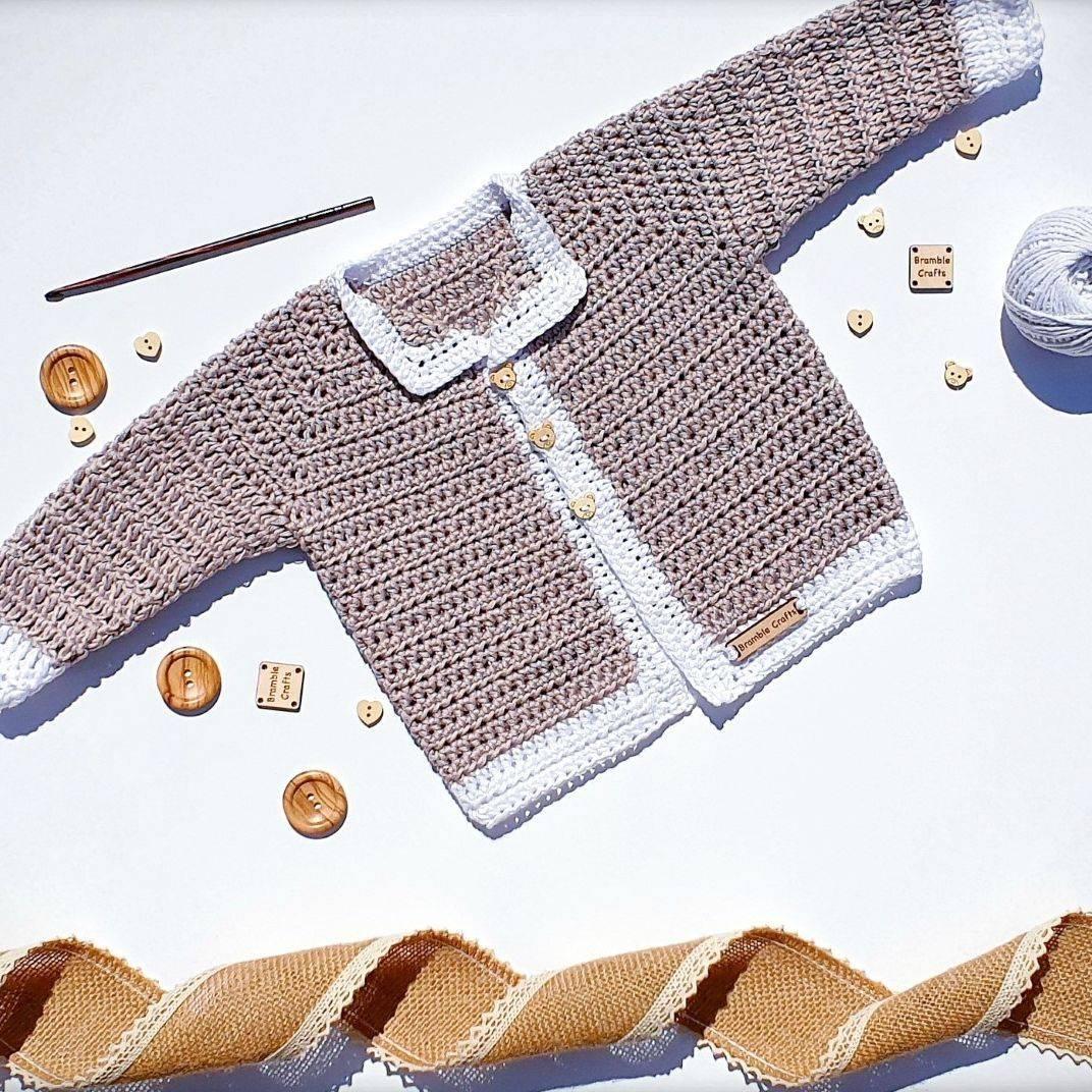 newborn cardigan, crochet cardigan, vegan gift, vegan cardigan