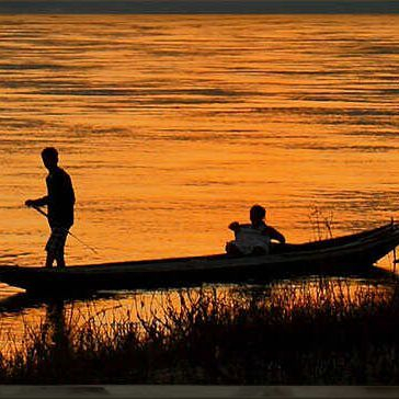 sunrise, sunset, Natchitoches, fishing, boat, river, canoe