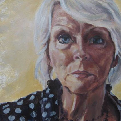 Acrylic portrait painting commission by Sandra Louisa