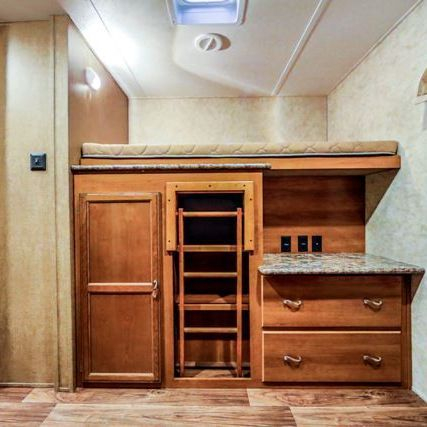 Our Kelowna RV Rental comes with a full bunkroom with  extra beds.