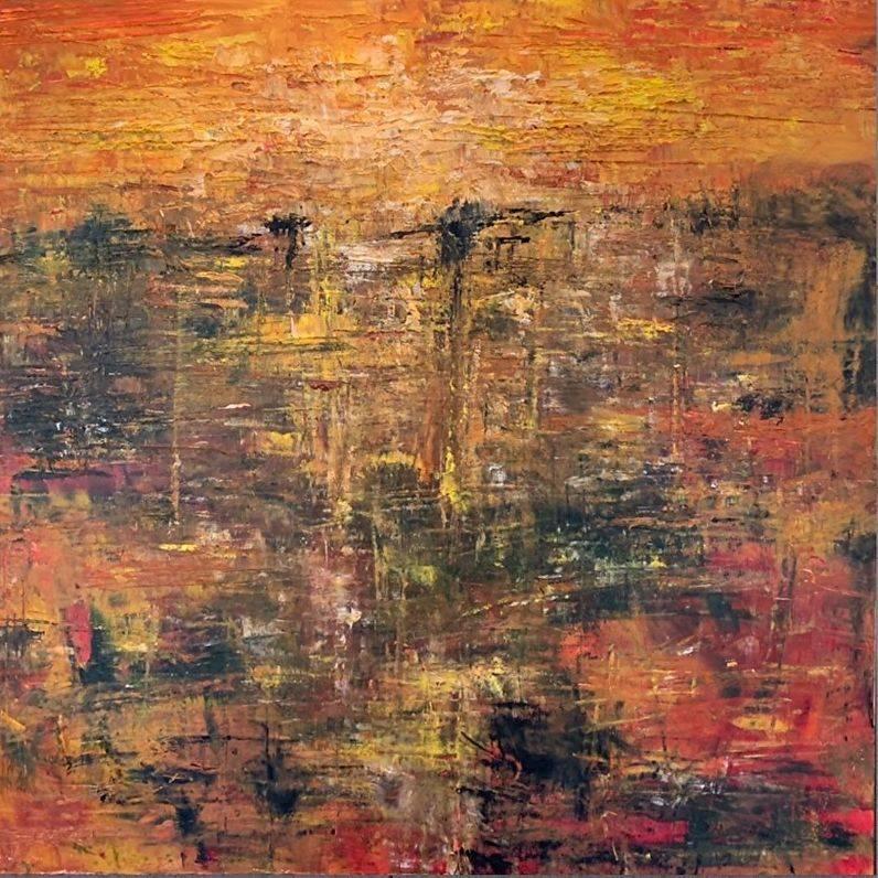KRobinson - African Sunset - 24x24 acrylics - $475