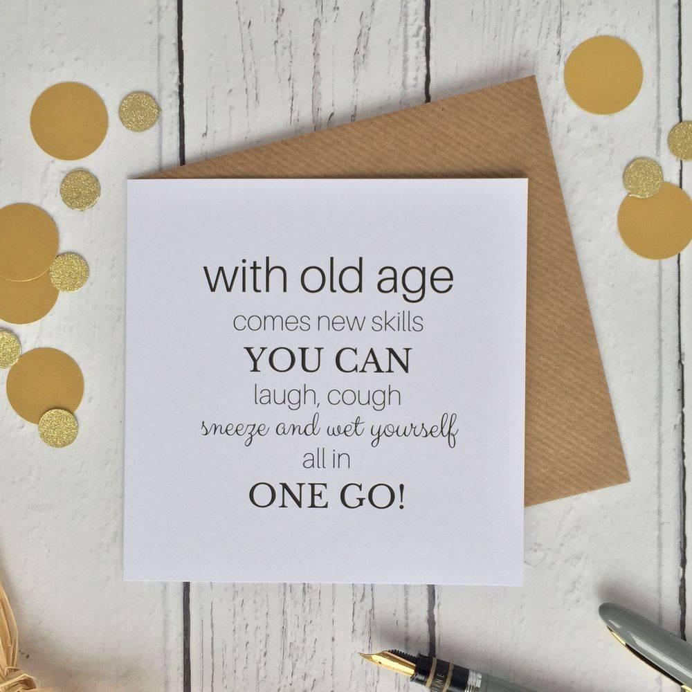 Birthday card age cheeky funny