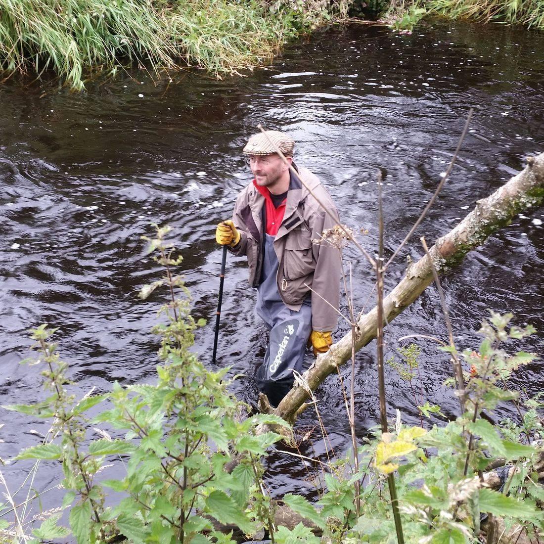 River angler wader walton