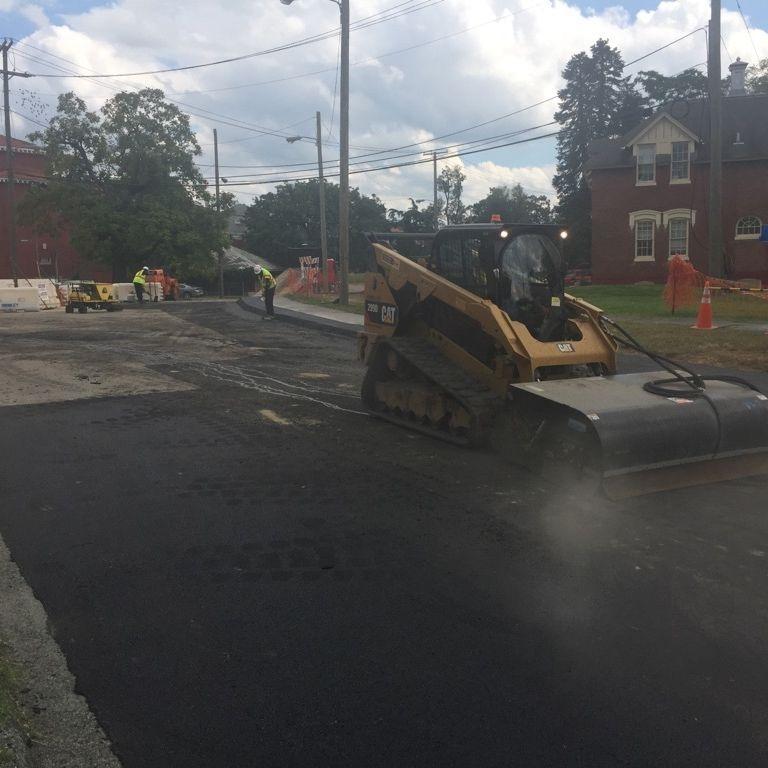 asphalt paving crew