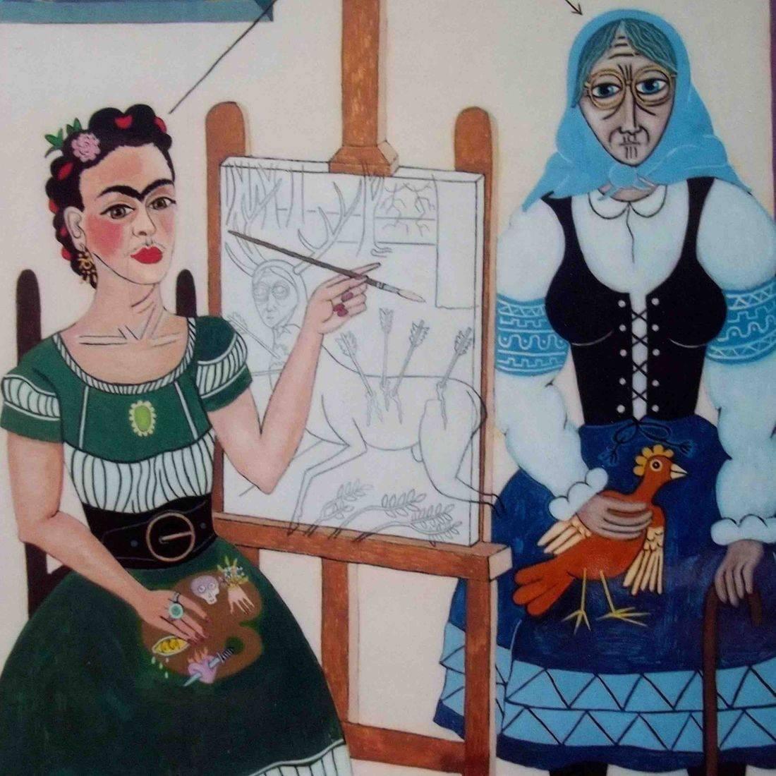Frida Kahlo, The Little Deer, Grandmother, Chicken, Poland, Casa Azul, Diego Rivera